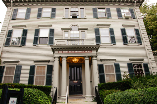 The ceremony and reception were held at the historic Aldrich House in Providence.