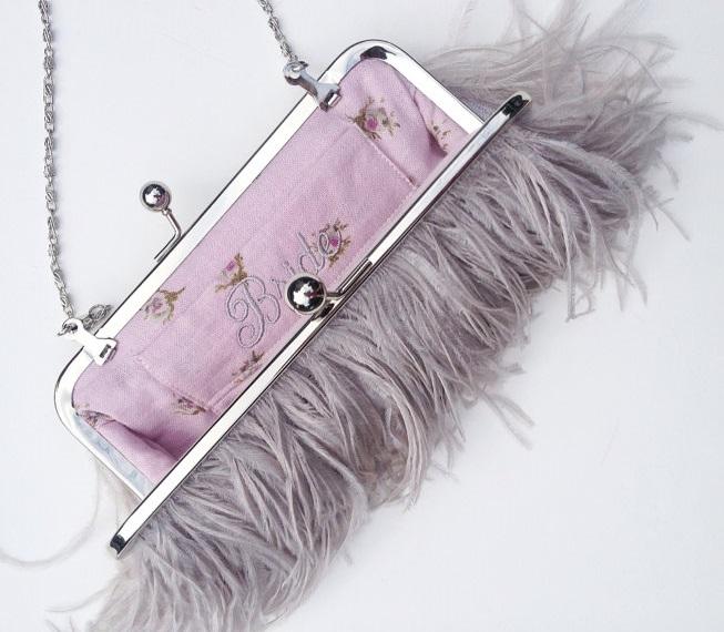 ostrich bride purse 2