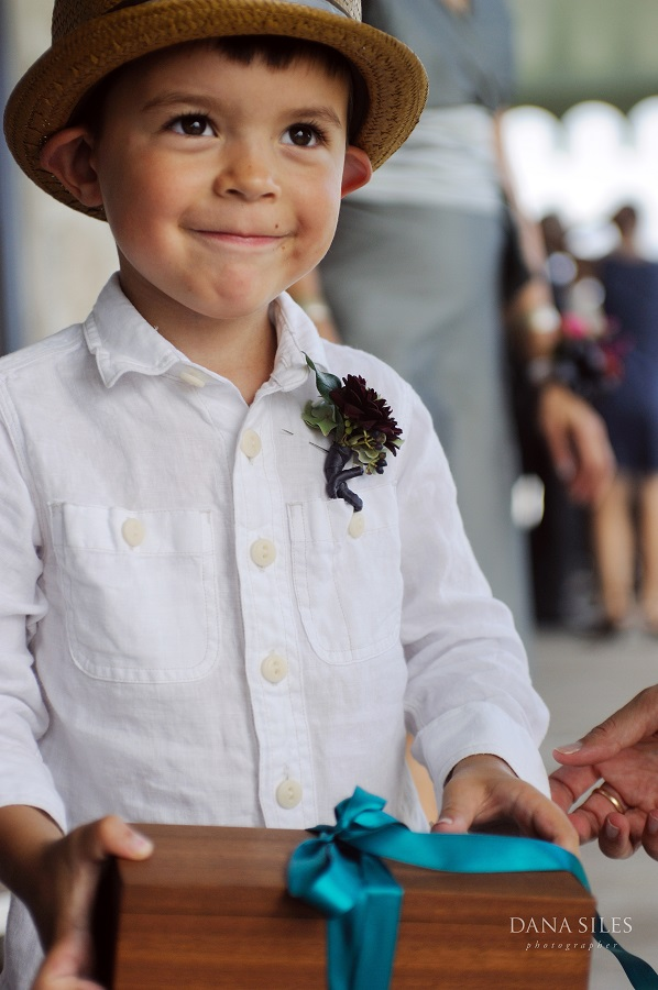 Sebastian, the couple's son, was ring bearer.