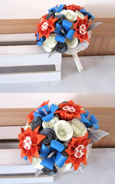 tangerine brides bouquet