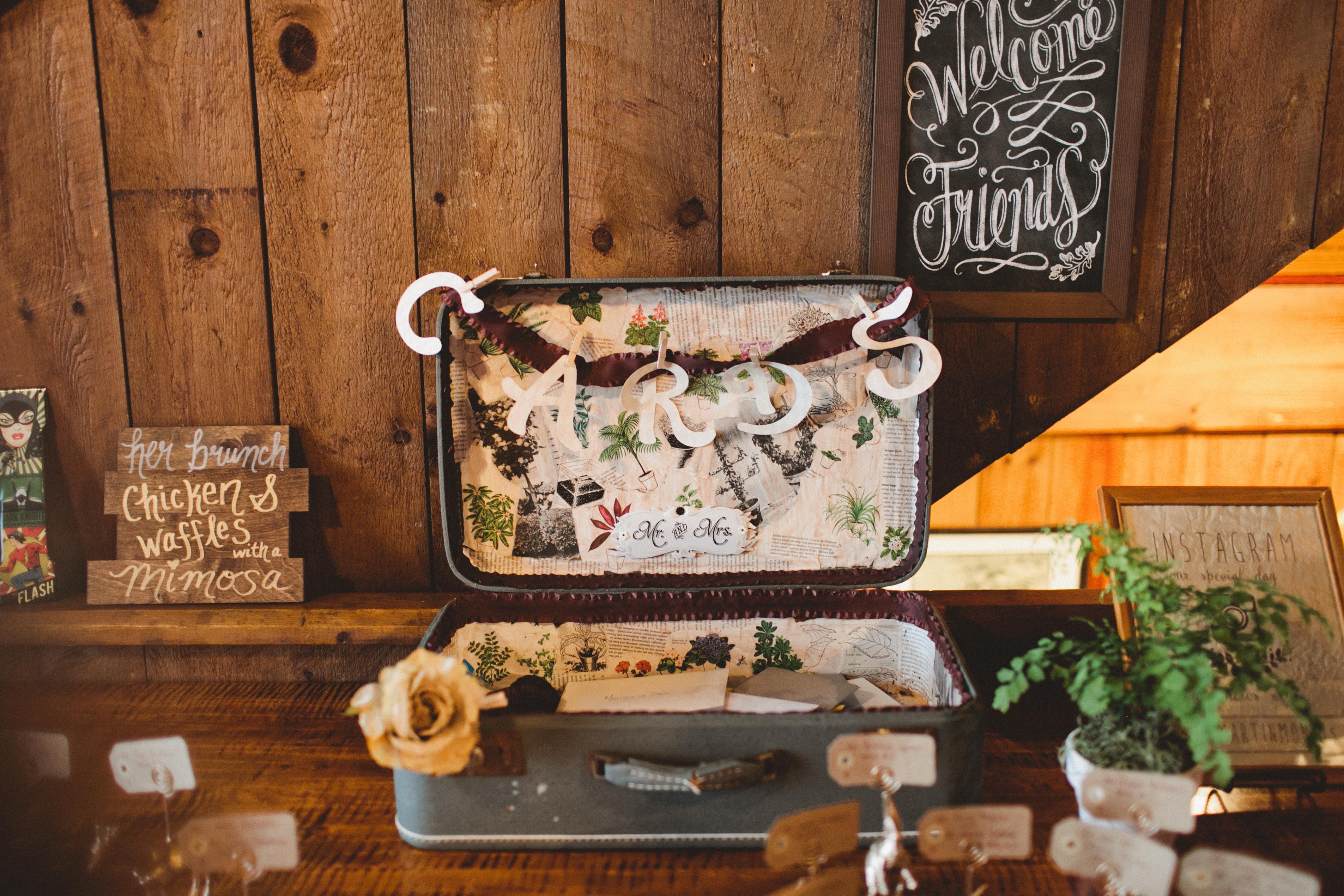 Marissa & Dan DIY - Suitcase Card Holder