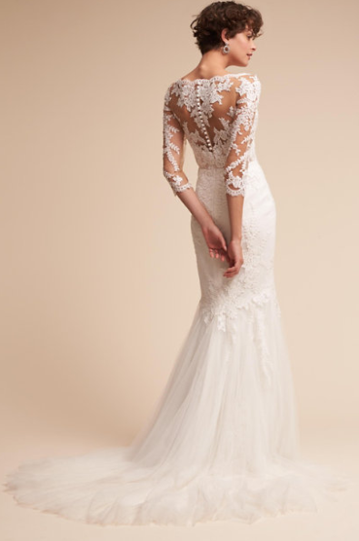 Pique gown by BHLDN